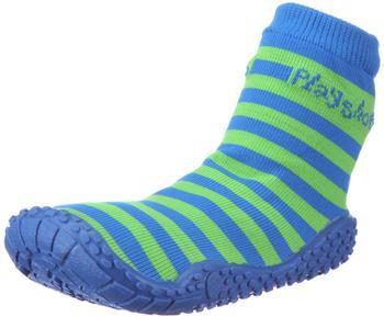 Playshoes Aqua-Socke Streifen blau/grün