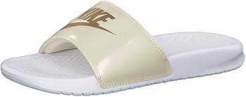 Nike Wmns Benassi JDI Print white/beach/metallic gold