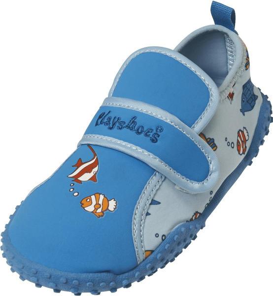 Playshoes UV-Schutz Aqua-Schuh Fische hellblau