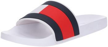 Tommy Hilfiger Essential Flag Pool Sliders (FM0FM02327) white