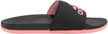 Adidas Comfort Adilette Damen Cloudfoam plus Logo core black/glory pink/core black
