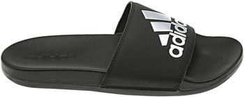 Adidas Comfort Adilette Damen Cloudfoam plus Logo core black/silver metallic/core black
