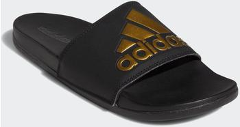 Adidas Adilette Cloudfoam Plus Logo Slides core black/gold metallic/core black