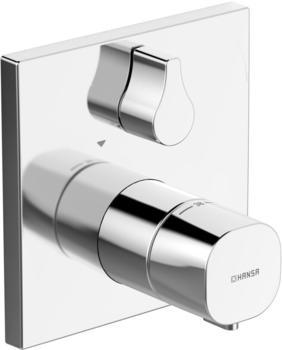 Hansa Funktionseinheit mit Dekorset Thermit - Brause-Batt. Hansaliving Thermostat-Brause-Funktionseinheit, Rosette eckig, 81139562