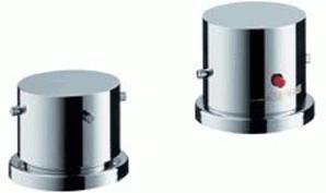 Axor Starck 2-Loch-Thermostat für Wannenrandmontage (Chrom, 10480)