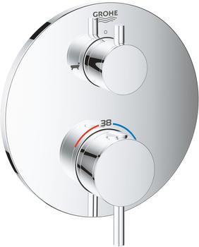 GROHE Atrio Thermostat-Wannenbatterie Design rund Chrom (24138003)
