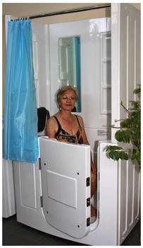 AcquaVapore Senioren-Sitzbadewanne A108D 110 x 68 cm