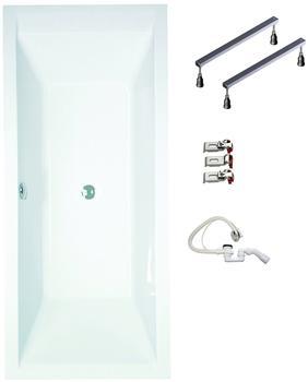 myBATH 120 Rottachsee Badewanne inkl. Garnitur und Füße