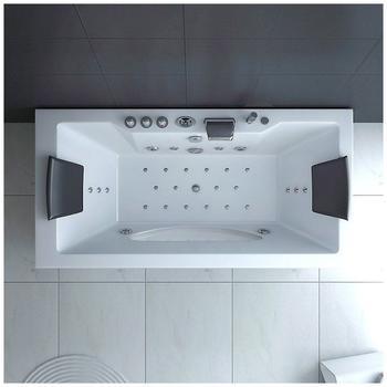 Home Deluxe Laguna M Whirlpoolbadewanne 90 x 180 cm (WH-LA/MW)