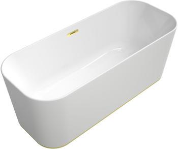 Villeroy & Boch VB Badewanne Finion Ventil Überlauf Wasserzulauf DesignRing gold, White Alpin