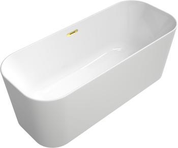 Villeroy & Boch VB Badewanne Finion Ventil Überlauf Wasserzulauf gold, Star White