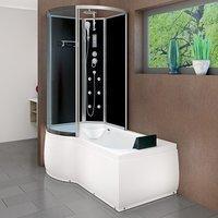 AcquaVapore DTP8050-A301R Wanne Duschtempel Badewanne Dusche Duschkabine 98x170