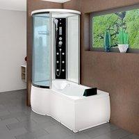 AcquaVapore DTP8055-A001R Wanne Duschtempel Badewanne Dusche Duschkabine 98x170