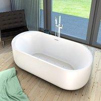 AcquaVapore freistehende Badewanne Wanne Whirlpool FSW16 170cm mit Luftmassage