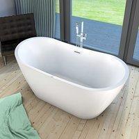 AcquaVapore freistehende Badewanne Wanne FSW13 180x80cm Whirlpool Luftmassage