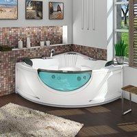 AcquaVapore Whirlpool Vollausstattung Pool Badewanne Eckwanne Wanne A2115-ALL 150x150