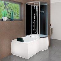 AcquaVapore DTP8050-A304L Wanne Duschtempel Badewanne Dusche Duschkabine 170x98