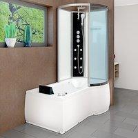 AcquaVapore DTP8050-A006L Whirlpool Wanne Duschtempel Dusche Duschkabine 170x98