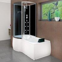 AcquaVapore DTP8050-A300R Wanne Duschtempel Badewanne Dusche Duschkabine 98x170
