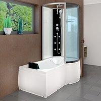 AcquaVapore DTP8050-A000L Wanne Duschtempel Badewanne Dusche Duschkabine 170x98