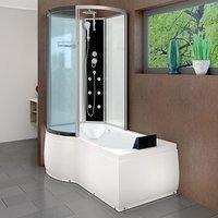 AcquaVapore DTP8050-A000R Wanne Duschtempel Badewanne Dusche Duschkabine 98x170