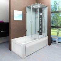 AcquaVapore DTP50-A001L Wanne Duschtempel Badewanne Dusche Duschkabine180x90