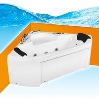 AcquaVapore Whirlpool Pool Badewanne Eckwanne Wanne A1402R-ALL 135x135 + Reinigungsfunktion,