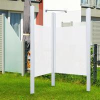 Breuer Garten-Dusche Exo, Set 2teilig weiß, Intima 95x95x200, Profile weiß