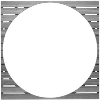 Duravit Holzeinleger Blue Moon 790851000020000 mit Bedienklappe für Blue Moon, 1400 x 1400 mm
