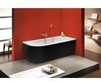 Ottofond Badewanne Modena Corner 178 x 78 x 44 cm, schwarz-weiß, Modell B