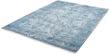 OBSESSION Fransenteppich im Used Look - Pure blau 120 x 170 cm