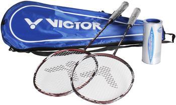 VICTOR Badminton Set Ultramate 8 Set, matte bronze, 098/0/9