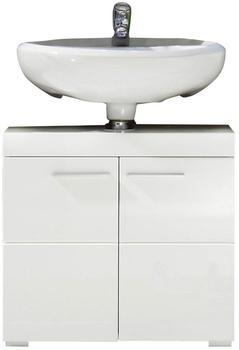 Woody Möbel Waschbeckenunterschrank weiß Hochglanz (93-00796)