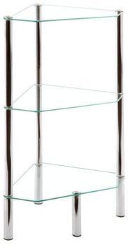 HAKU Glas-Regal dreieckig (3 Ablagen)