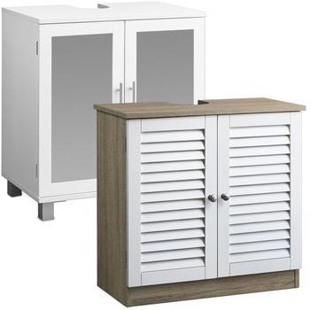 Deuba Waschbeckenunterschrank weiß braun (101549)