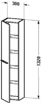 Duravit X-Large Hochschrank (1150) weiß