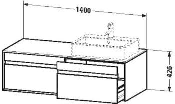Duravit Ketho Waschtischunterbau (6697) beidseitig