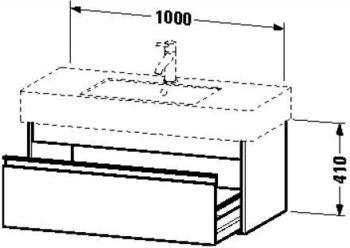 Duravit Ketho 455x1000x410mm weiß matt (KT669101818)