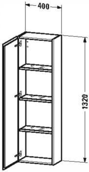 Duravit L-Cube Halbhochschrank weiß hochglanz (LC1168L8585)