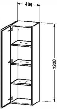 Duravit L-Cube Halbhochschrank weiß hochglanz (LC1178L2222)