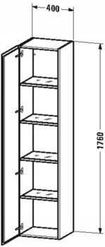 Duravit L-Cube Halbhochschrank basalt matt (LC1180L4343)