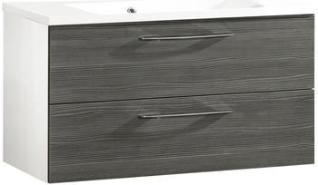 fackelmann-vadea-89-5cm-pinie-anthrazit-weiss-glaenzend-83605