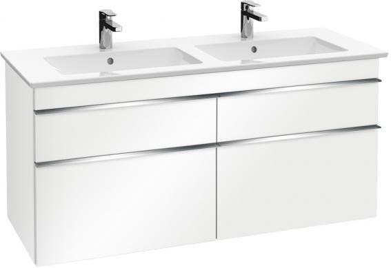 Villeroy & Boch Venticello XXL 4 Auszüge (Front glossy white/Korpus glossy white) (Griff chrom) (A93001DH)
