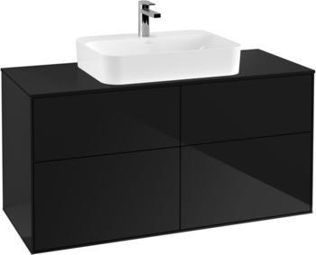 Villeroy & Boch Finion 120 x 60,3 x 50,1 cm Glossy Black Lacquer / Glass Black Matt (F38200PH)