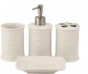 Clayre & Eef Bath Bad-Set 4tlg. (60123)