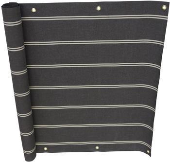 Angerer Balkonbespannung 90cm x 8m Streifen braun