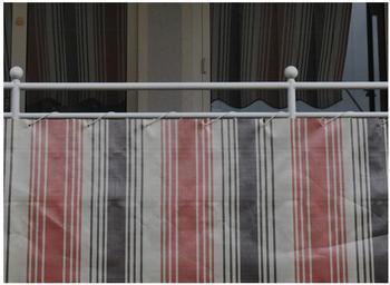 Angerer Balkonbespannung PE 75cm x 8m Streifen braun
