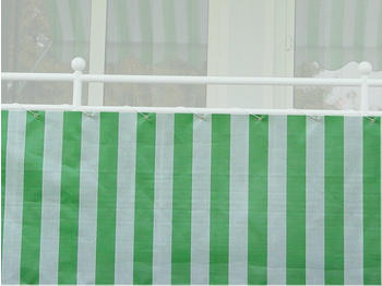 Angerer Balkonbespannung PE 75cm x 8m Blockstreifen grün