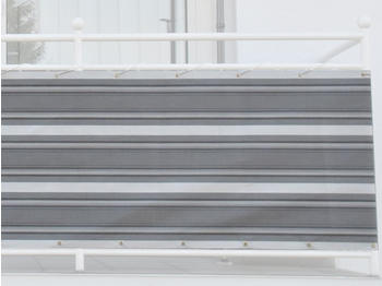 Angerer Balkonbespannung 90cm x 8m Streifen grau