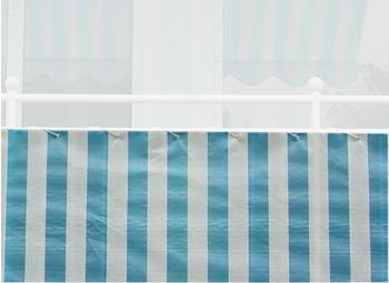 Angerer Balkonbespannung PE 90cm x 8m Blockstreifen blau